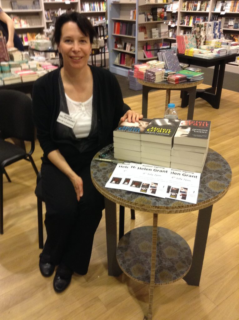 Helen Grant at her book signing
